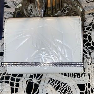 Swarovski white wallet
